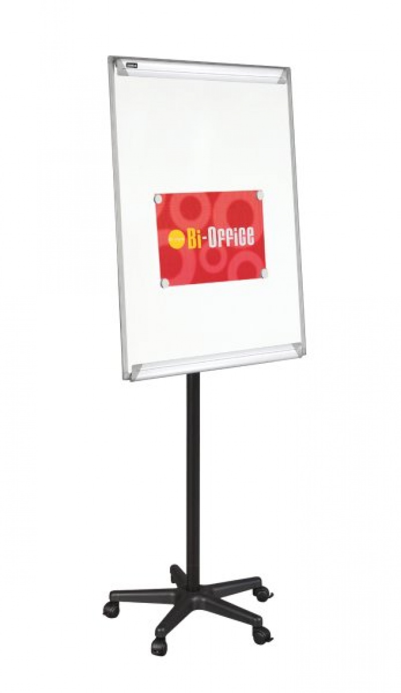 Flipchart Mobile Easel BI-OFFICE, 70x102cm, Magnetic Dry-wipe Board