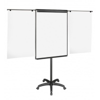 Flipchart Easel 70x102cm Magnetic Dry-wipe Board with Extending Display Arms