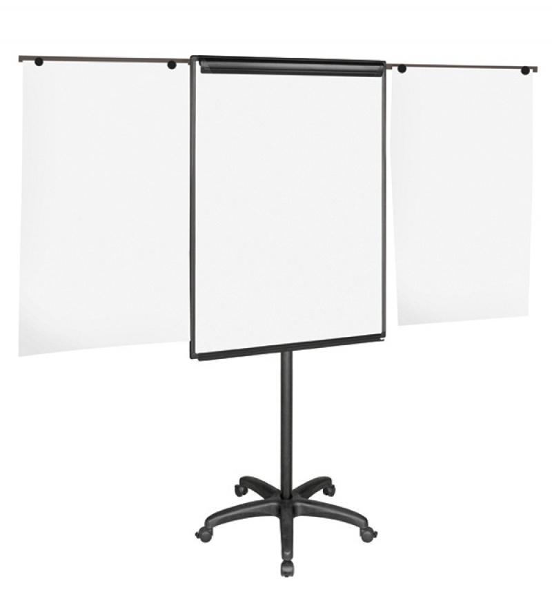 Flipchart Easel BI-OFFICE, 70x102cm, Magnetic Dry-wipe Board with Extending Display Arms