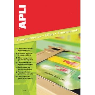 Folia do rzutników APLI, A4, do drukarki laserowej, 100ark., Folie do rzutników, Prezentacja