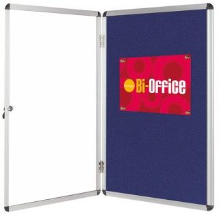 Gablota filcowa BI-OFFICE, 9xA4, 67x93cm, niebieska, Gablotki, Prezentacja