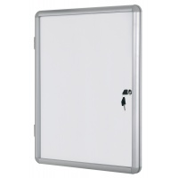 Dry-wipe Magnetic Display Case BI-OFFICE, 15xA4, 90x120cm, white
