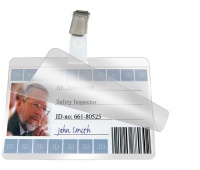 Identyfikator samolaminujący z klipem, 74x104mm, 10szt., Identyfikatory, Prezentacja