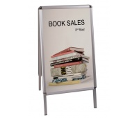 Free Standing Display Board BI-OFFICE, 59. 4x84. 1cm, double-sided, white