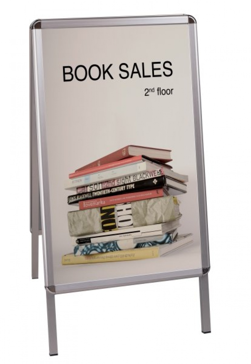 Free Standing Display Board 59. 4x84. 1cm double-sided white