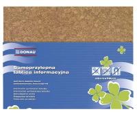 Notice Board DONAU, 58x46cm, self-adhesive, brown