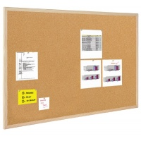 Cork Notice Board BI-OFFICE, 100x50cm, wood frame