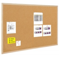 Cork Notice Board BI-OFFICE, 70x50cm, wood frame