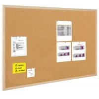 Tablica korkowa BI-OFFICE, 100x80cm, rama drewniana, Tablice korkowe, Prezentacja