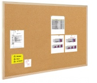 Tablica korkowa BI-OFFICE, 50x40cm, rama drewniana, Tablice korkowe, Prezentacja