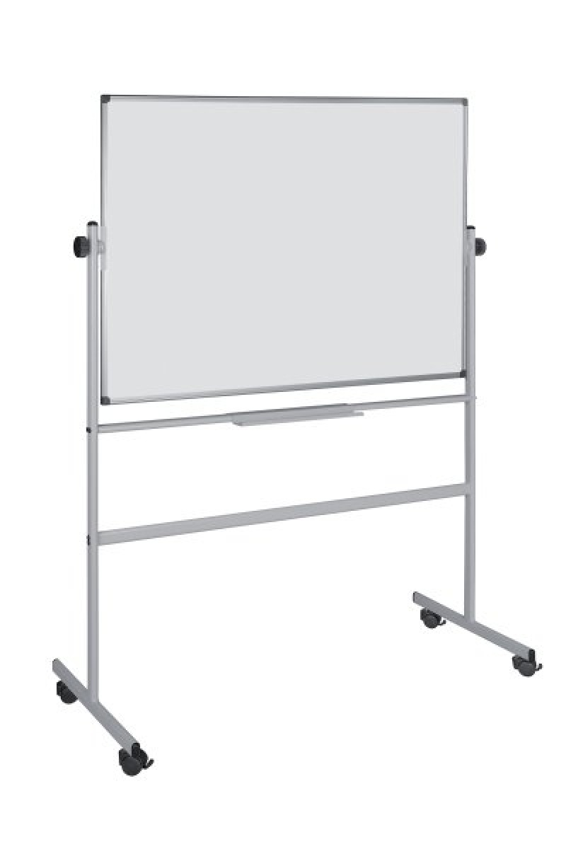 Dry-wipe&magnetic Notice Board, BI-OFFICE 120x90cm, rotable, mobile, lacquered, aluminium frame