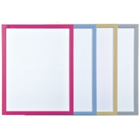 Dry-wipe Notice Board, BI-OFFICE, 60x40cm, glazed, colourful frames