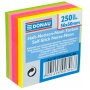 Mini Self-adhesive pad DONAU, 50x50mm, 1x250sheets, neon