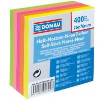 Kostka samoprzylepna DONAU, 76x76mm, 1x400 kart., neonowa, Bloczki samoprzylepne, Papier i etykiety