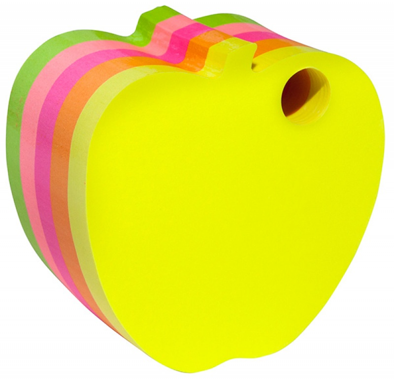 Self-adhesive Pad DONAU apple, cube, 1x400 sheets, neon
