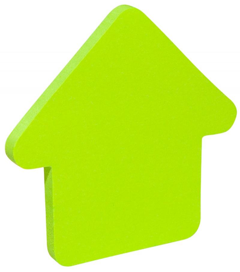 Bloczek samop. 1x50 kart. w kształcie strzałki różowy, Bloczki samoprzylepne, Papier i etykiety