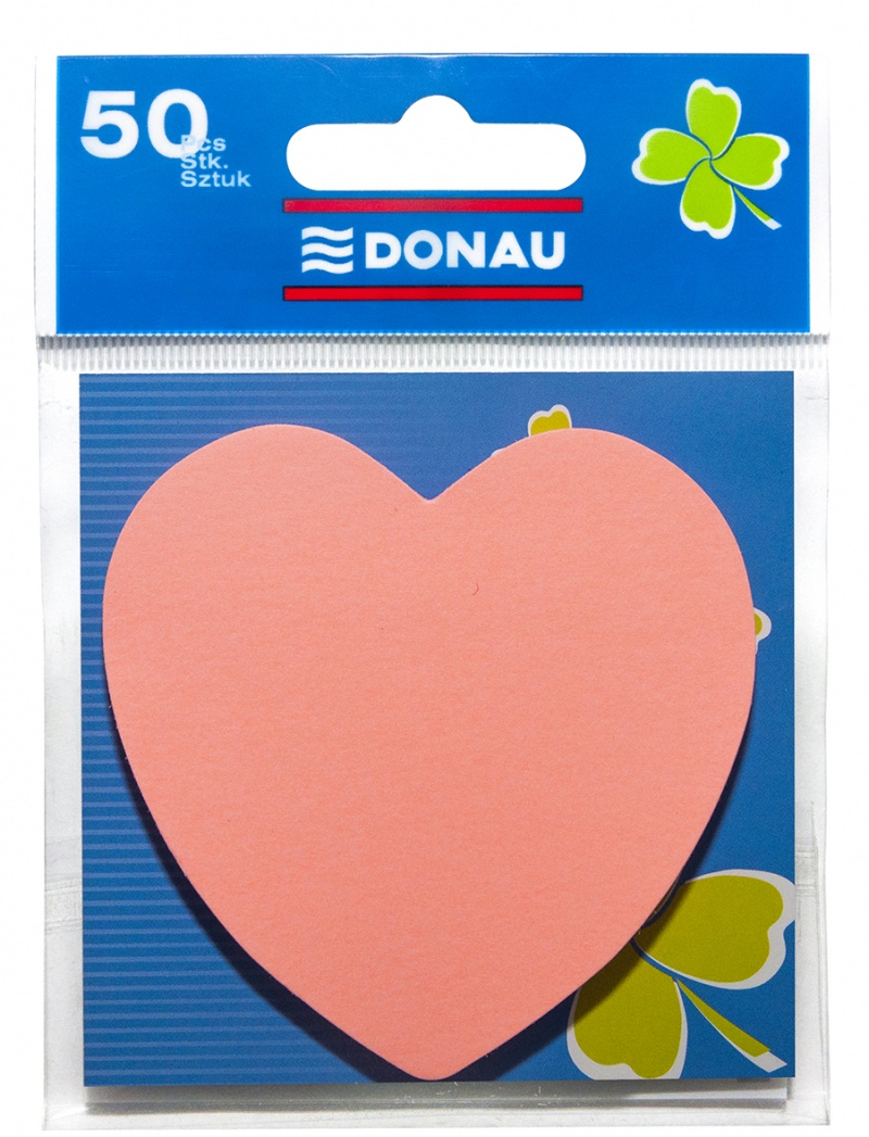 Self-adhesive Pad DONAU, 1x50 sheets, light pink