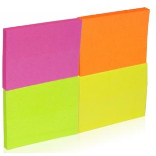 Bloczek samoprzylepny DONAU, notes, 38x51mm, 4x50 kart., neonowe