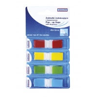 Filing Index Tabs DONAU, PP, 12x45mm, 4x35 tabs, assorted colours