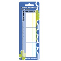 Filing Index Tabs DONAU, with ruler, PP, 37x50mm, 3x10 pcs, assorted colours