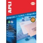 Polyester Labels APLI, 70x37mm, rectangle, clear, 10 sheets