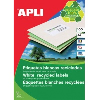 Eco-friendly Labels APLI, 70x37mm, rectangle, white