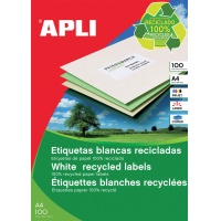 Eco-friendly Labels APLI, 105x35mm, rectangle, white
