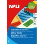 Coloured Labels APLI, 210x297mm, rectangle, yellow, 20 sheets
