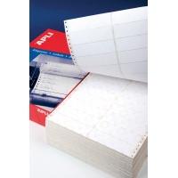 Etykiety do drukarek igłowych APLI, 137,2x74,1mm, 1-kolumna, prostokątne, białe