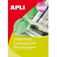 Folia samoprzylepna APLI, 210x297mm, 10szt., transparentna, Etykiety samoprzylepne, Papier i etykiety