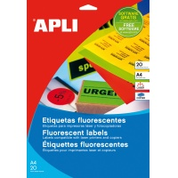 Fluorescent Labels 210x297mm rectangle green