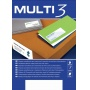 Universal Labels MULTI 3, 105x37mm, rectangle, white, 100 sheets