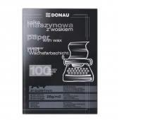 Carbon Paper DONAU, for typewriters, waxed, A4, 100pcs, black