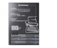 Carbon Paper DONAU, for typewriters, waxed, A4, 50pcs, black
