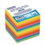 Kostka DONAU klejona, 90x90x90mm, ok. 800 kart., neon, mix kolorów, Kostki, Papier i etykiety