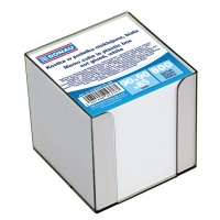Note Cube Cards DONAU, in a box, 95x95x95mm, ca 700 cards, white