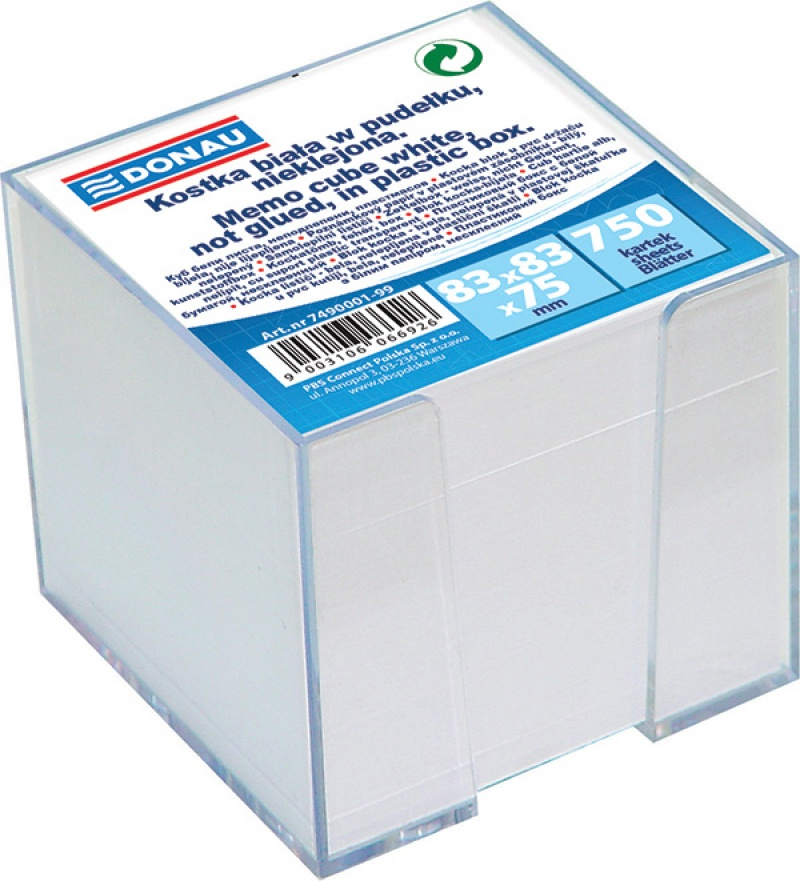 Note Cube Cards in a box 92x92x92mm white