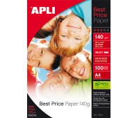 Photographic Paper APLI Best Price Photo Paper, A4, 140gsm, glossy, 100 sheets