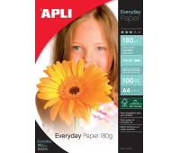 Photographic Paper APLI Everyday Photo Paper, A4, 180gsm, glossy, 100 sheets