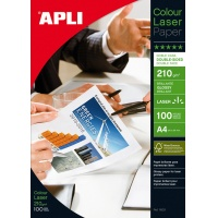 Photographic Paper APLI Glossy Laser Paper, A4, 210gsm, glossy, 100 sheets
