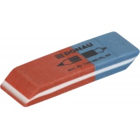 Multipurpose Eraser 57x19x8mm blue-red