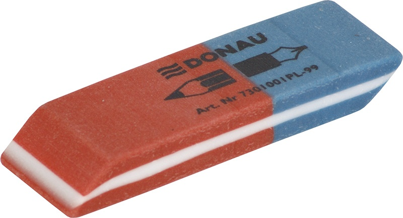 Multipurpose Eraser DONAU, 57x19x8mm, blue-red