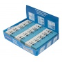 Gumka wielofunkcyjna DONAU, 41x18x11mm, niebiesko-biała, Gumki, Artykuły do pisania i korygowania