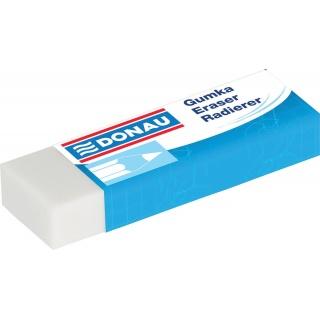 Gumka uniwersalna DONAU, 62x21x11mm, biała, Gumki, Artykuły do pisania i korygowania