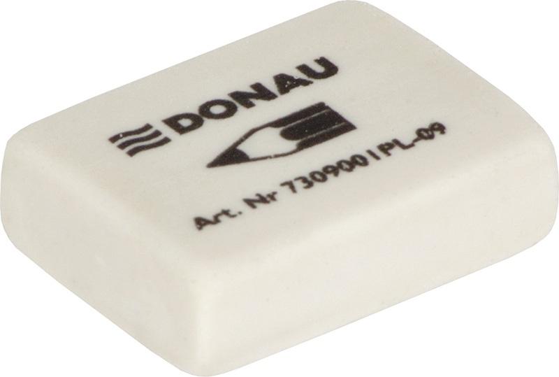 Gumka uniwersalna DONAU, 31x23x9mm, biała, Gumki, Artykuły do pisania i korygowania