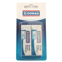 Universal Pencil Eraser DONAU, 61x21x11mm, blister pack - 2 pcs, white