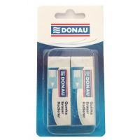 Gumka uniwersalna DONAU, 62x21x11mm, blister - 2szt., biała, Gumki, Artykuły do pisania i korygowania