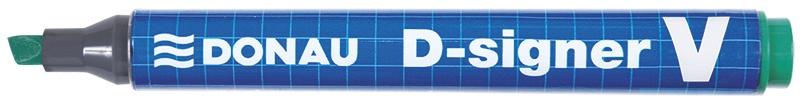 Permanent Marker DONAU D-Signer V, chisel, 2-4mm (line), green