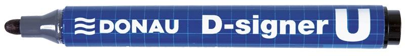 Marker permanentny DONAU D-Signer U, okrągły, 2-4mm (linia), czarny, Markery, Artykuły do pisania i korygowania