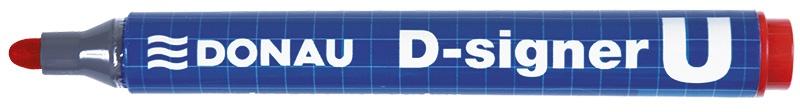 Marker permanentny DONAU D-Signer U, okrągły, 2-4mm (linia), czerwony, Markery, Artykuły do pisania i korygowania